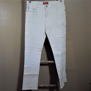 NWT Cos Jeans White Crystal Embelish Skinny Jeans